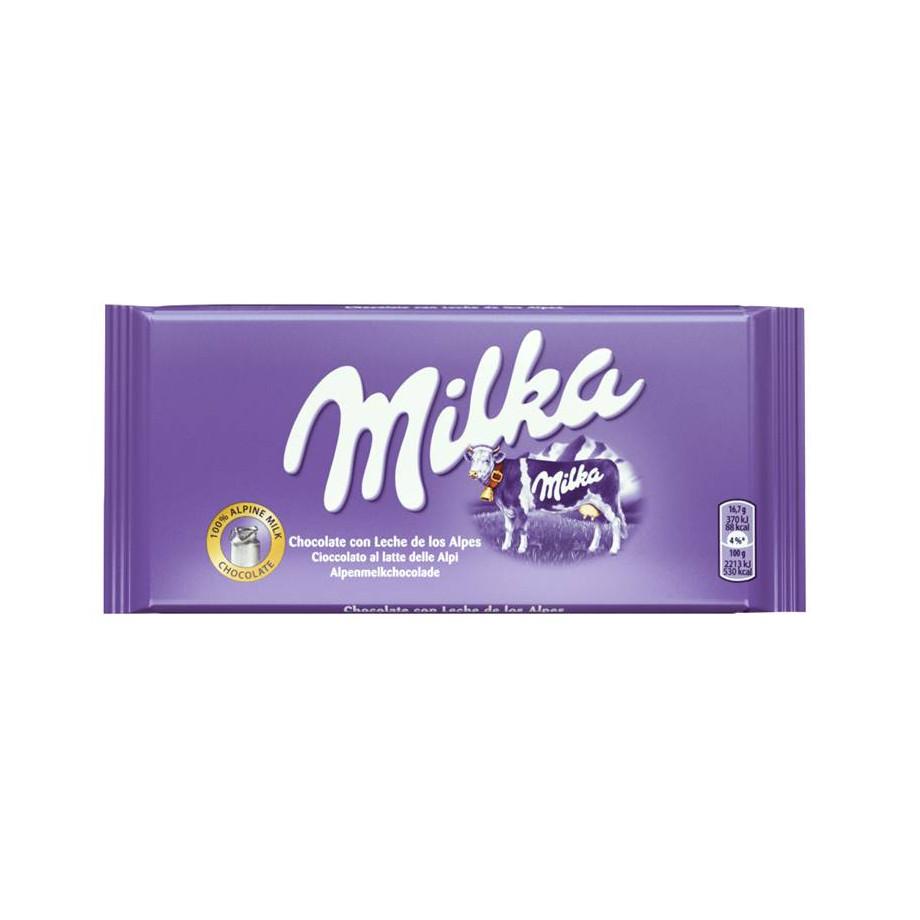 Milka Tabletas Leche 24 unidades