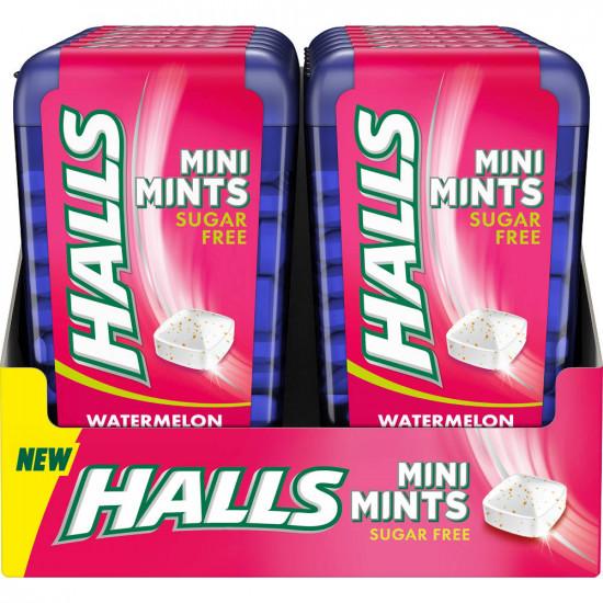 Halls Mini Mints Sandía 12 unidades